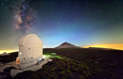 Láser de Optical Ground Station en Tenerife